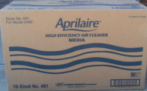 aprilaire 401 filter box
