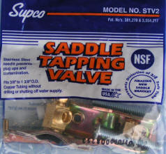 STV2 Supco Self Tapping Water Saddle Valve