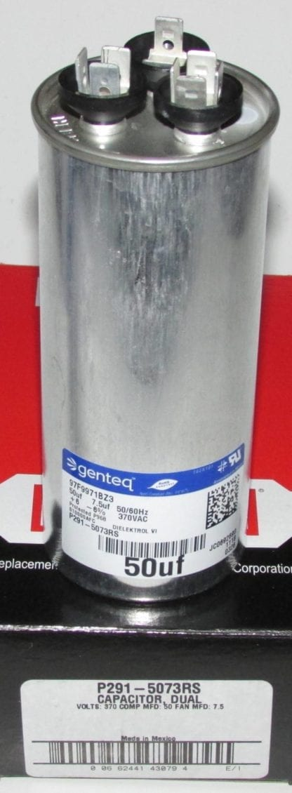 50/7.5 MFD 370 Volt Bryant Carrier Dual Round Run Capacitor