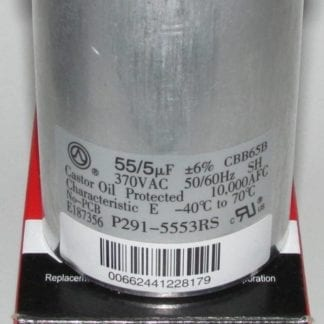 55/5 MFD 370 Volt Bryant Carrier Dual Round Run Capacitor