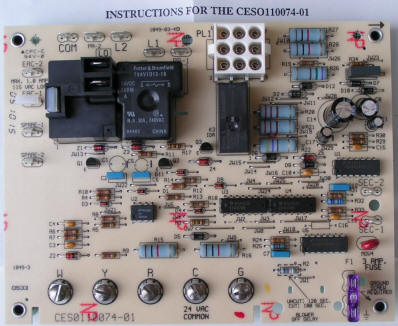 Bryant Carrier Furnace Control Board