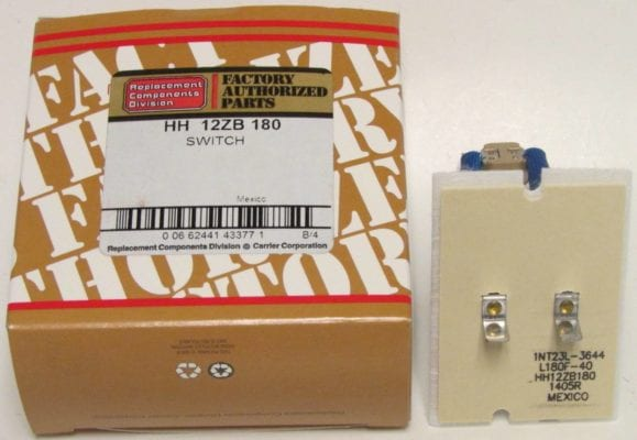 HH12ZB180 Bryant Carrier Furnace Limit Switch
