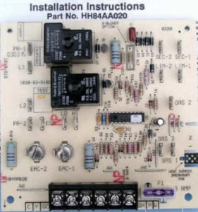 HH84AA020 Bryant Carrier Furnace Control Circuit Board