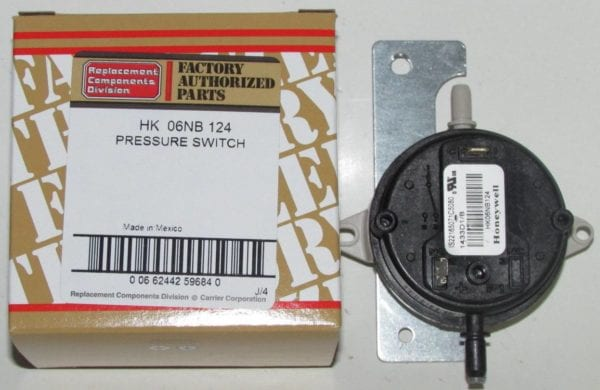 HK06NB124 Bryant Carrier Furnace Pressure Switch