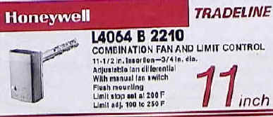 L4064b2210 Honeywell Fan And Limit Control Switch