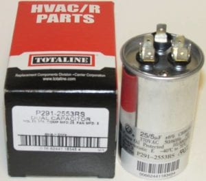 25/5 MFD 370 Volt Bryant Carrier Dual Round Run Capacitor