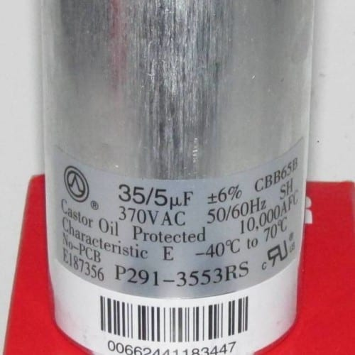 35/5 MFD 370 Volt Bryant Carrier Dual Round Run Capacitor