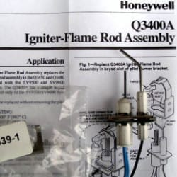 Honeywell Smart Valve Ignitor Flame