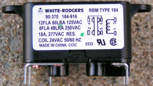 White Rodgers 90-370 Fan Relay