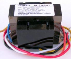 problem why i am not getting 24 volts to the contactor where universal low voltage transformer