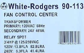 White Rodgers 90