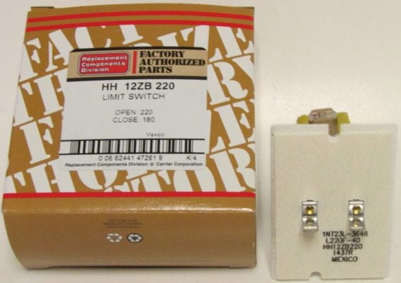 HH12ZB220 Bryant Carrier Furnace Limit Switch