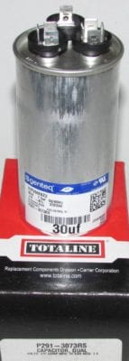 30/7.5 MFD 370 Volt Bryant Carrier Dual Round Run Capacitor