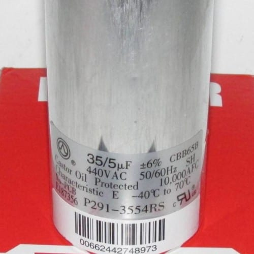 35/5 MFD 440 Volt Bryant Carrier Dual Round Run Capacitor