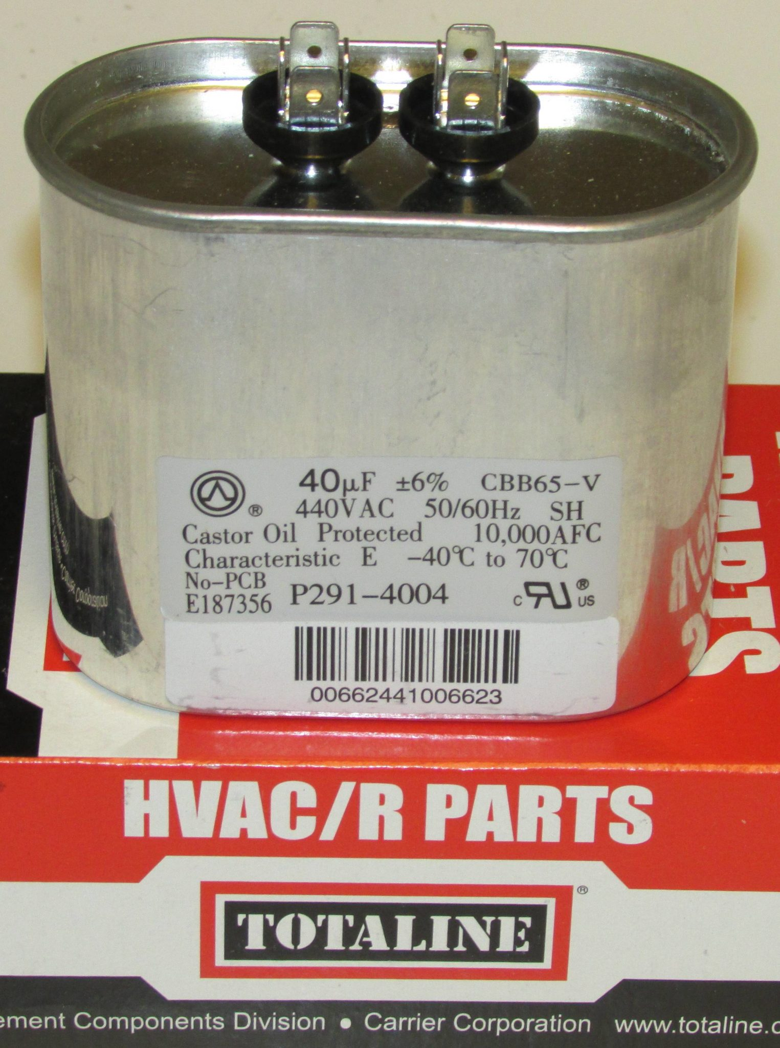 40 Mfd Bryant Carrier Totaline Oval Air Conditioner Capacitor