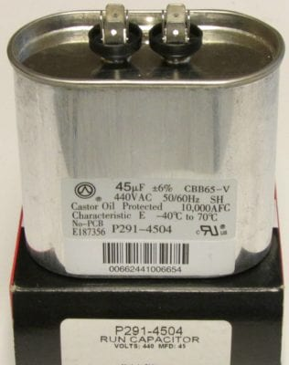 45 Mfd Bryant Carrier Totaline Oval Air Conditioner Capacitor