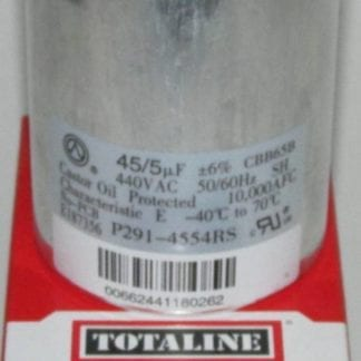 45/5 MFD 440 Volt Bryant Carrier Dual Round Run Capacitor