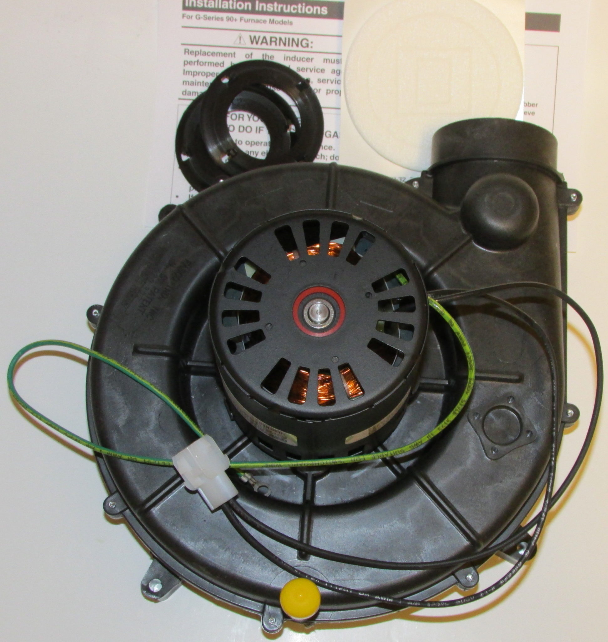 Nordyne Furnace Draft Inducer 903962 on nordyne electric furnace parts