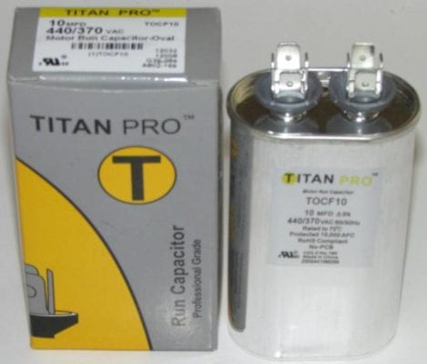 10 MFD Titan Pro Oval Extended Life Run Capacitor