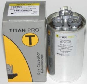 25 5 Mfd Titan Pro Dual Round Extended Life Run Capacitor