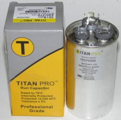 30/5 MFD Titan Pro Dual Round Extended Life Run Capacitor