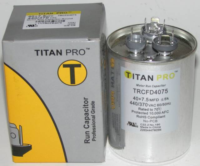 40/7 5 MFD Titan Pro Dual Round Extended Life Run Capacitor