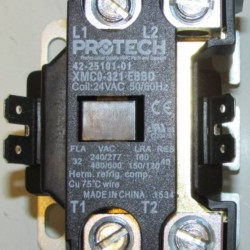 Above close-up of 42-25101-01 contactor: