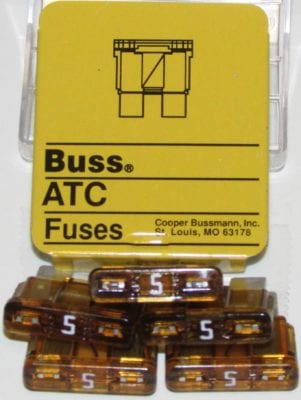 5 Amp Buss ATC Circuit Board Fuse 5 Pack