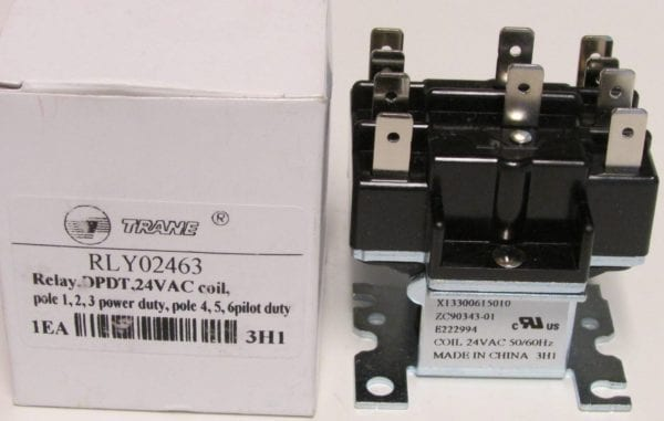 Rly02463 american standard trane air handler blower relay for Air handler blower motor relay