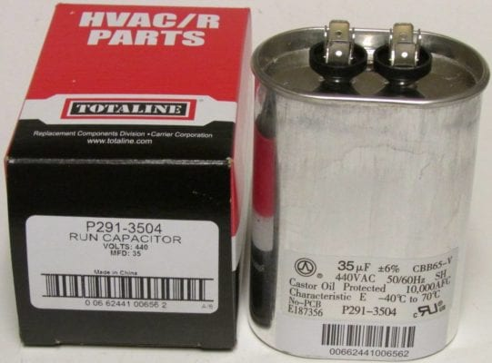 p291-3504 35 MFD 440 Volt Bryant Carrier Totaline Oval Run Capacitor