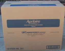 Aprilaire 201 Filter 10 Pack Box