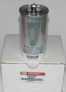 80/7.5 MFD 370 Volt Bryant Carrier Dual Round Run Capacitor