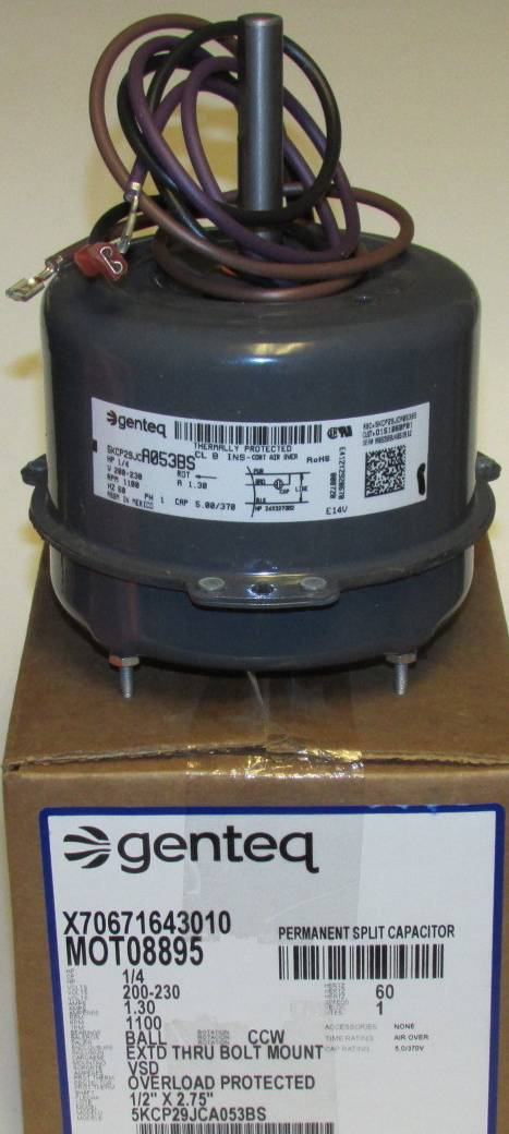 mot08895 american standard trane condenser fan motor. Black Bedroom Furniture Sets. Home Design Ideas