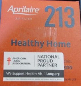 213 American lung assoc label