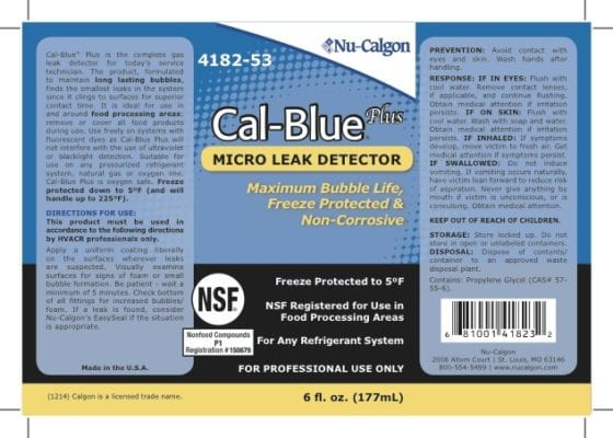 Cal-Blue Plus label