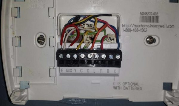 Diagram  Honeywell Heat Pump Thermostat T874n1016 Wiring