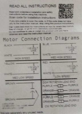 5460 universal blower motor connection diagram