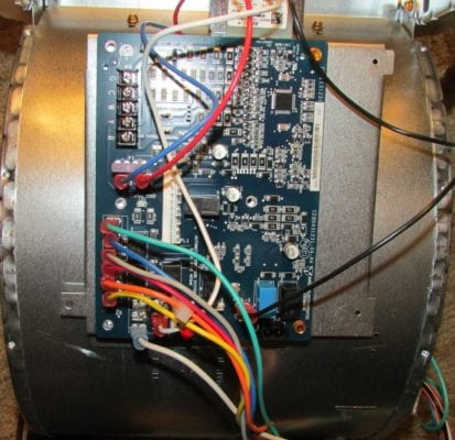 hk42fz086 board attached to furnace